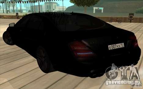 Mercedes-Benz S65 AMG с мигалками для GTA San Andreas вид сбоку