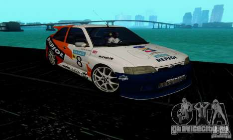 Ford Escort RS Cosworth для GTA San Andreas вид сзади