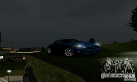 Jaguar XKRS для GTA San Andreas вид сзади слева