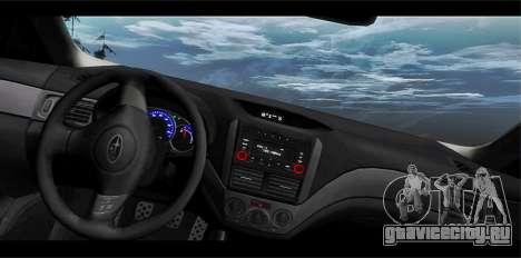 Subaru Forester XT 2008 для GTA San Andreas вид сбоку