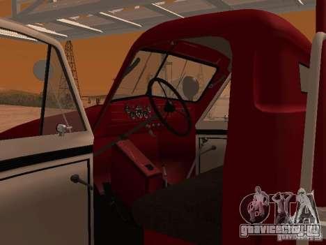 ГАЗ-51 АЛГ-17 для GTA San Andreas вид изнутри