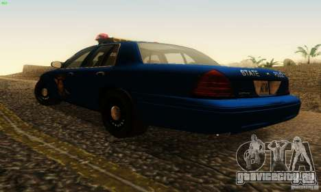 Ford Crown Victoria Michigan Police для GTA San Andreas вид слева