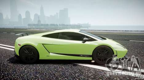 Lamborghini Gallardo LP570-4 Superleggera 2010 для GTA 4 вид изнутри