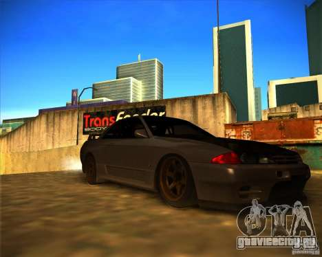 Nissan Skyline (R32) SHE для GTA San Andreas вид сзади слева