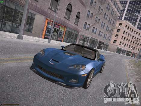 Chevrolet Corvette ZR1 для GTA San Andreas вид справа