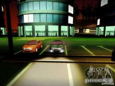 Acura TSX для GTA San Andreas вид изнутри