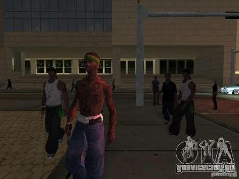 Замена всех скинов Grove Street Families для GTA San Andreas пятый скриншот