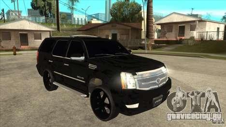 Cadillac Escalade Unique Autosport для GTA San Andreas вид сзади