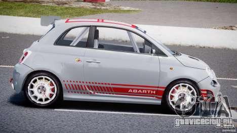 Fiat 500 Abarth для GTA 4 вид слева