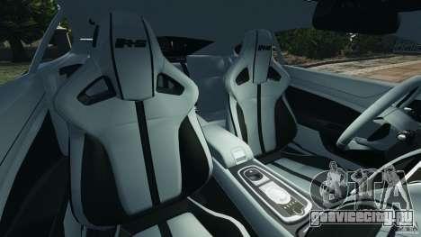 Jaguar XKR-S Trinity Edition 2012 v1.1 для GTA 4 вид изнутри