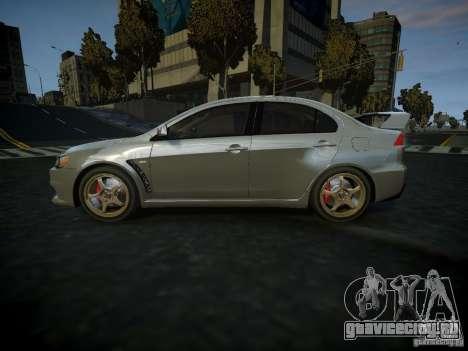 Mitsubishi Lancer Evolution X для GTA 4 вид слева