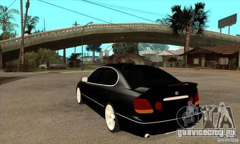 TOYOTA ARISTO 2001 года для GTA San Andreas вид сзади слева