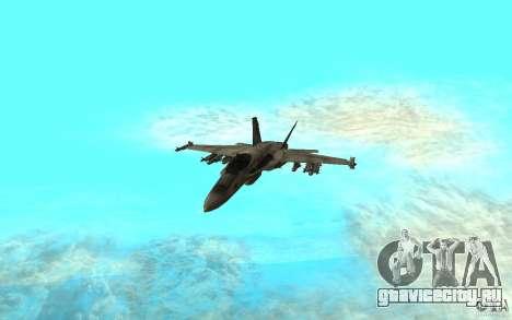 F-18 Hornet для GTA San Andreas вид слева