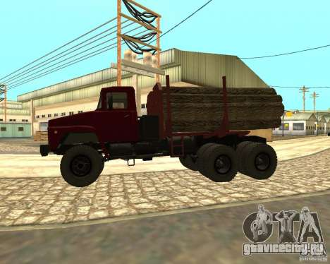 КрАЗ-255 Лесовоз для GTA San Andreas вид сзади слева