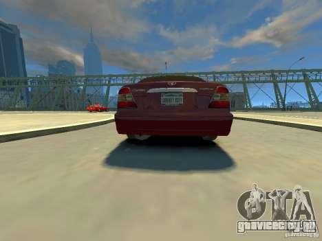 Daewoo Leganza CDX для GTA 4 вид сзади слева