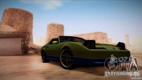 Pontiac Firebird Trans Am для GTA San Andreas вид сзади