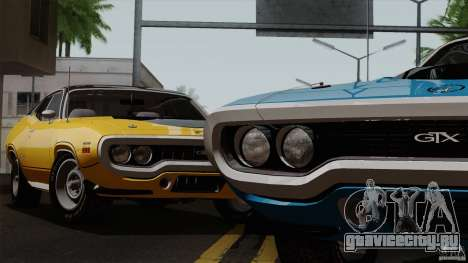 Plymouth GTX 426 HEMI 1971 для GTA San Andreas вид сзади слева