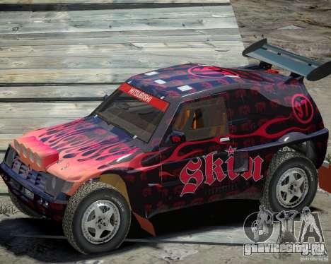 Mitsubishi Pajero Proto Dakar EK86 Винил 4 для GTA 4 вид сзади