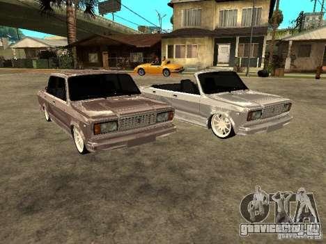 ВАЗ 2107 Convertible для GTA San Andreas вид сзади