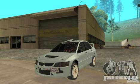 Mitsubishi Lancer Evolution IX для GTA San Andreas вид слева