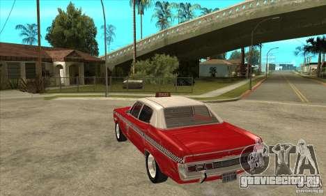 AMC Matador Taxi для GTA San Andreas вид сзади слева
