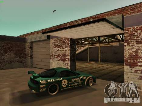 Mazda RX7 rEACT для GTA San Andreas вид изнутри