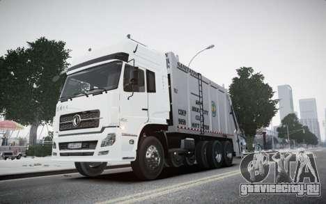 Dongfeng Denon Garbage Truck для GTA 4 вид сзади