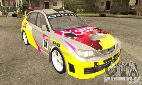 Subaru Impreza WRX STi X GAMES America из DIRT 2 для GTA San Andreas вид сзади