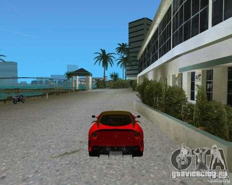 Ferrari 599 GTO для GTA Vice City вид сзади слева