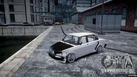 ВАЗ 2107 Drift для GTA 4 вид изнутри
