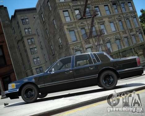 Lincoln Towncar 1991 для GTA 4 вид сзади слева