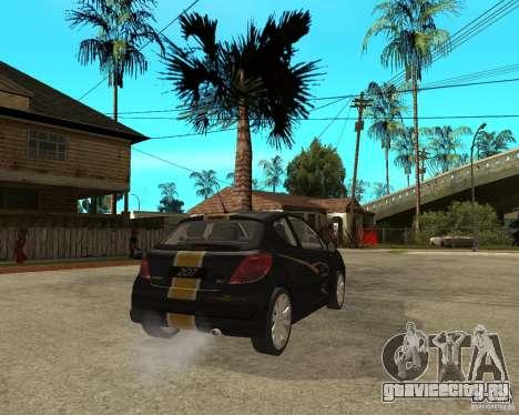 PEUGEOT 207 Griffe LANCARSPORT для GTA San Andreas вид сзади слева