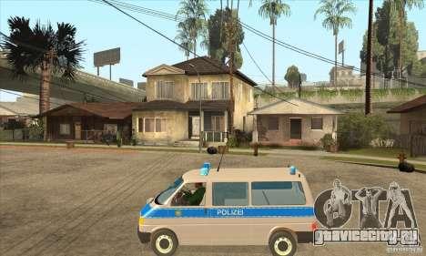Volkswagen Transporter T4 German Police для GTA San Andreas вид слева
