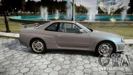 Nissan Skyline GT-R R34 2002 v1 для GTA 4 вид изнутри