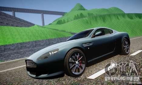 Aston Martin DB9 2005 V 1.5 для GTA 4 вид изнутри