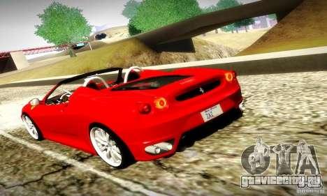 Ferrari F430 Spider для GTA San Andreas вид сверху