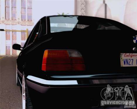 BMW M3 E36 New Wheels для GTA San Andreas вид сзади
