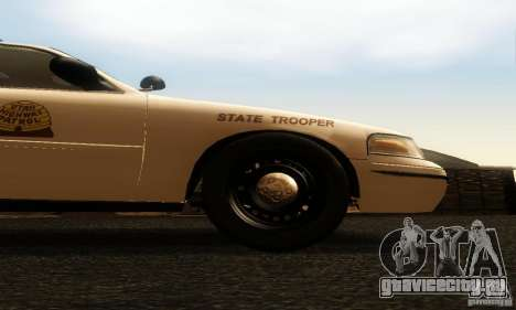 Ford Crown Victoria Utah Police для GTA San Andreas вид справа