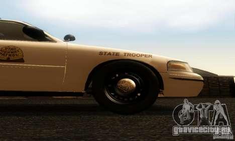 Ford Crown Victoria Utah Police для GTA San Andreas вид справа