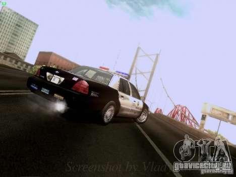 Ford Crown Victoria Los Angeles Police для GTA San Andreas вид сбоку