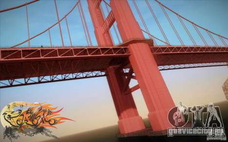 New Golden Gate bridge SF v1.0 для GTA San Andreas пятый скриншот