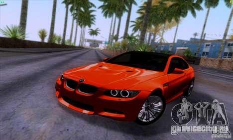 BMW M3 E92 v1.0 для GTA San Andreas вид сзади