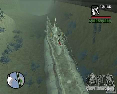 U99 German Submarine для GTA San Andreas третий скриншот