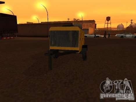 Прицеп Компрессорная станция для GTA San Andreas вид сзади слева