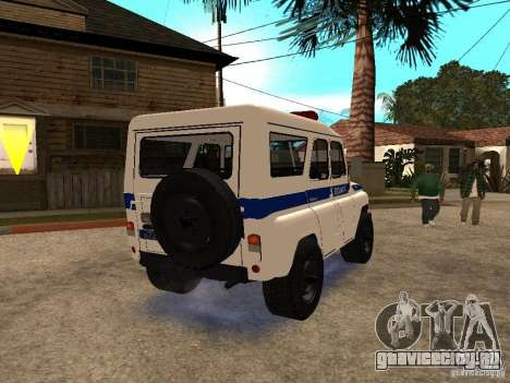 УАЗ Полиция для GTA San Andreas вид справа