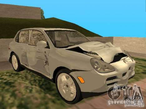 Porsche Cayenne для GTA San Andreas вид изнутри