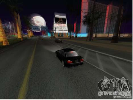 BMW M3 GT-R Stock для GTA San Andreas вид сзади слева