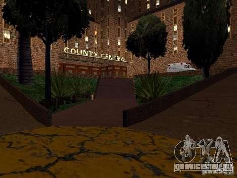 Новые текстуры госпиталя в Лос Сантосе для GTA San Andreas пятый скриншот
