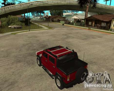 AMG H2 HUMMER SUT для GTA San Andreas вид слева