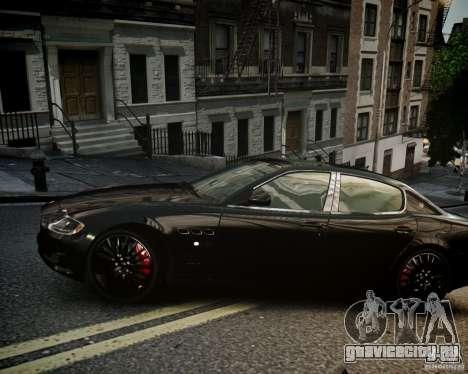 Maserati Quattroporte Sport GTS 2011 для GTA 4 вид сзади слева